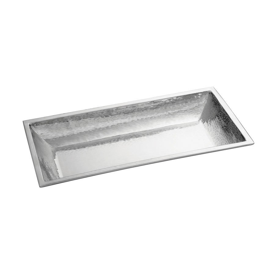 Tablecraft RB2813 Remington 27 1/2 inch x 13 1/2 inch Rectangular Stainless Steel Bowl