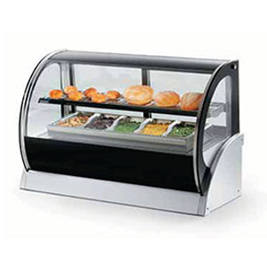 "Vollrath 40856 48"" Curved Glass Heated Countertop Display Cabinet at Sears.com"