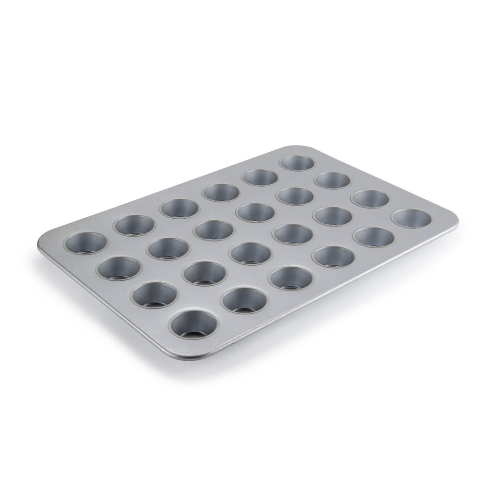 "Chicago Metallic 45605 24 Cup Glazed Cupcake / Muffin Pan - 17 7/8"" x 25 7/8"""