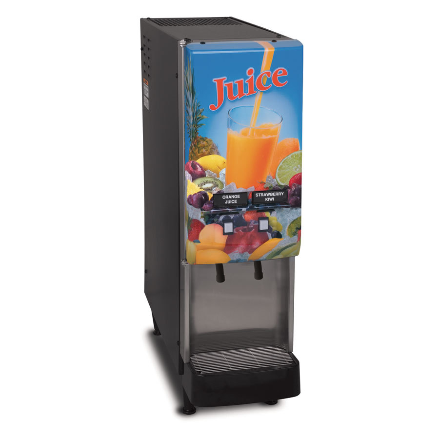 Bunn JDF-2S 2 Flavor Cold Beverage Juice Dispenser with Lit Door - 120V (Bunn 37900.0008)