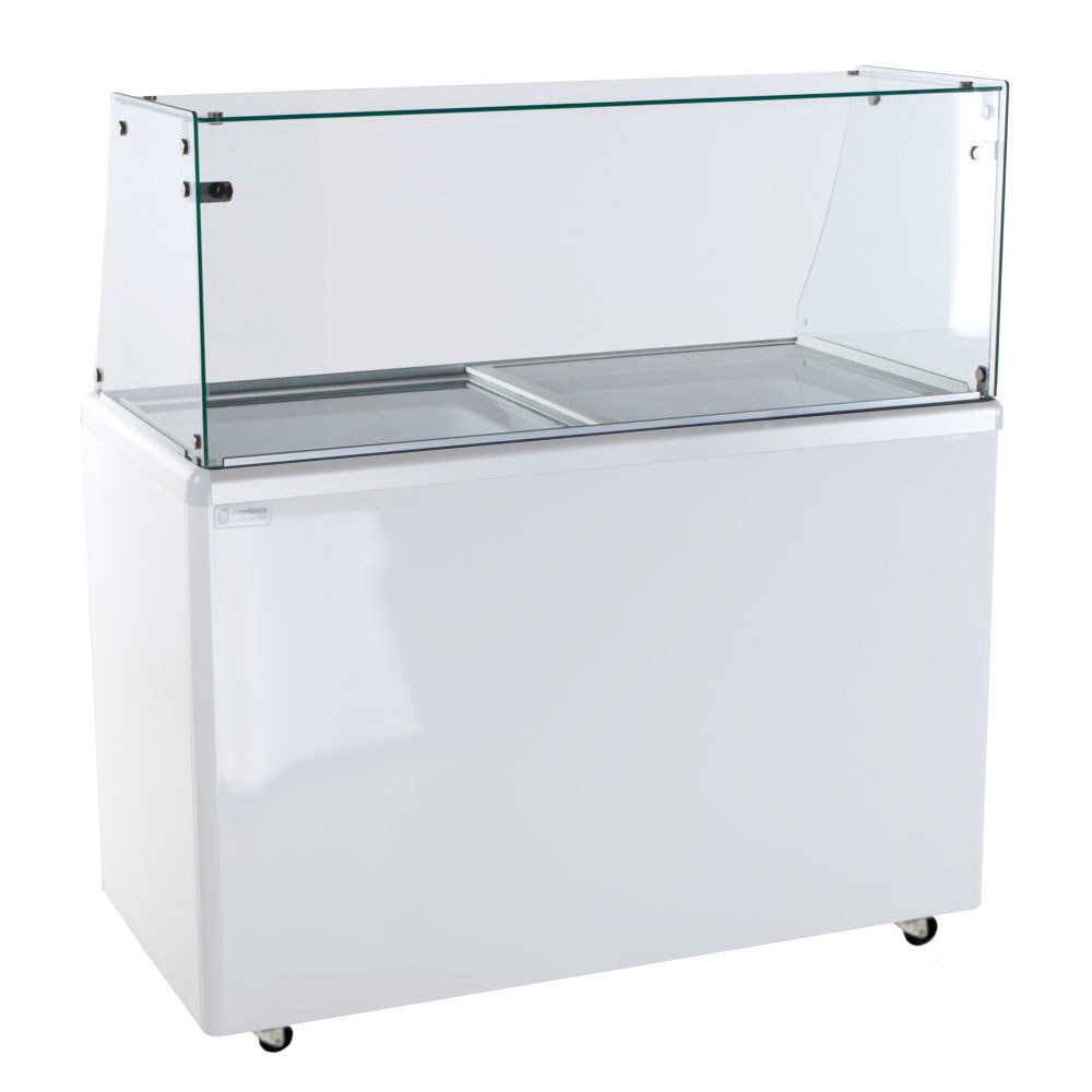 Excellence EDC-8 Ice Cream Freezer Dipping Cabinet with Straight-Sided Glass - 12.5 Cu. Ft. at Sears.com