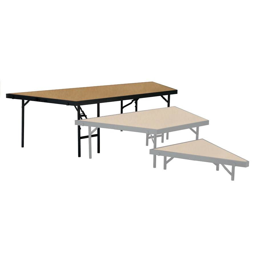 "National Public Seating SP4824HB Portable Stage Pie Unit with Hardboard Surface - 48"" x 24"""