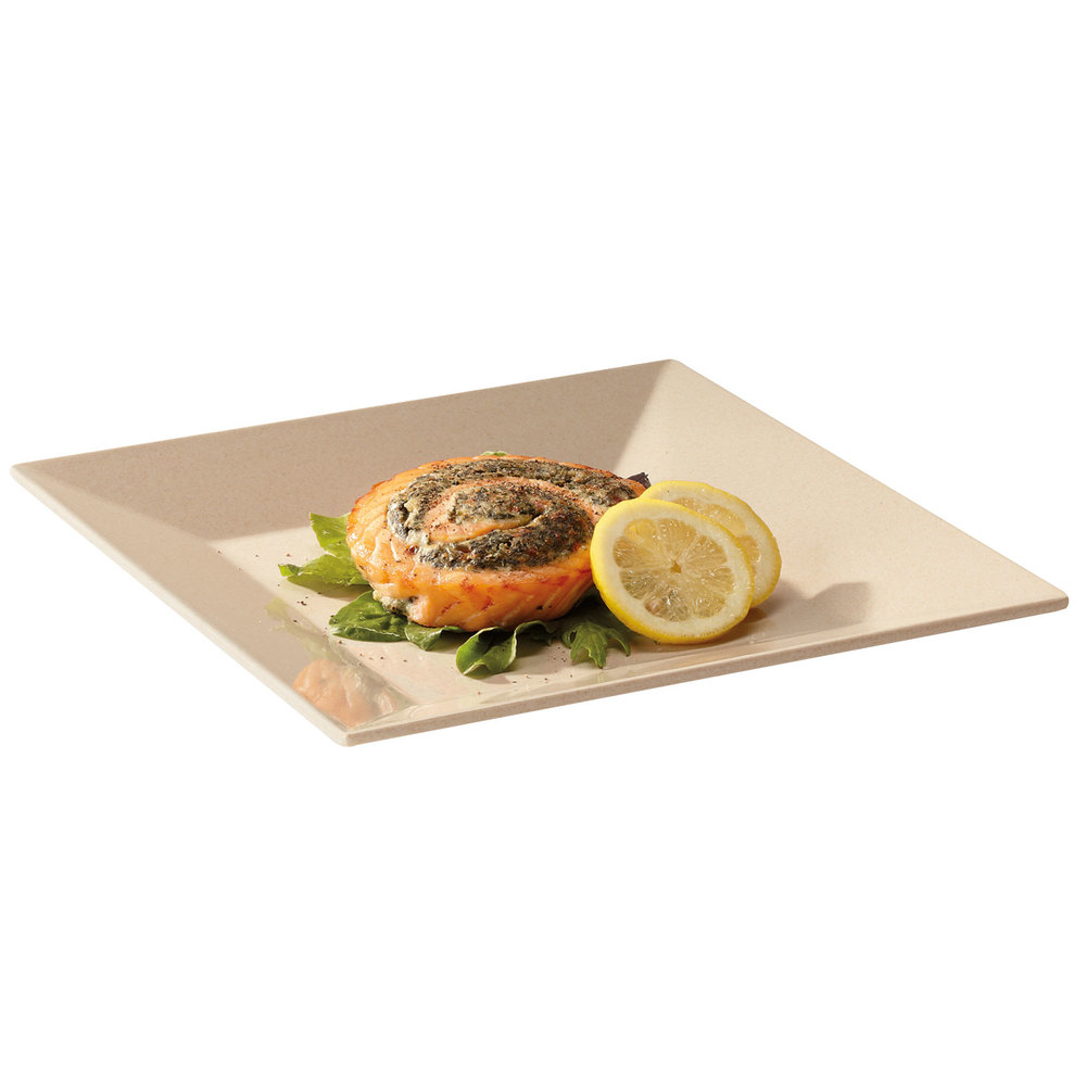 "GET BAM-1104 BambooMel 10"" Square Plate - 12/Case"