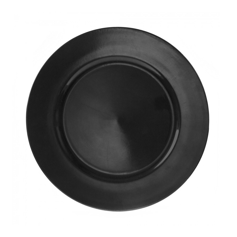 "10 Strawberry Street LABLK-24 13"" Lacquer Round Black Charger Plate"
