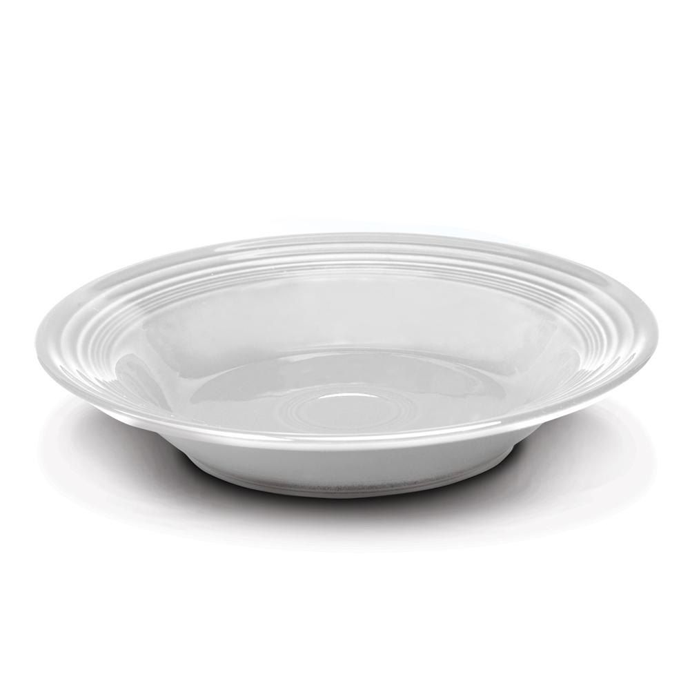 Homer Laughlin 451100 Fiesta White 13.25 oz. Rim Soup Bowl - 12 / Case