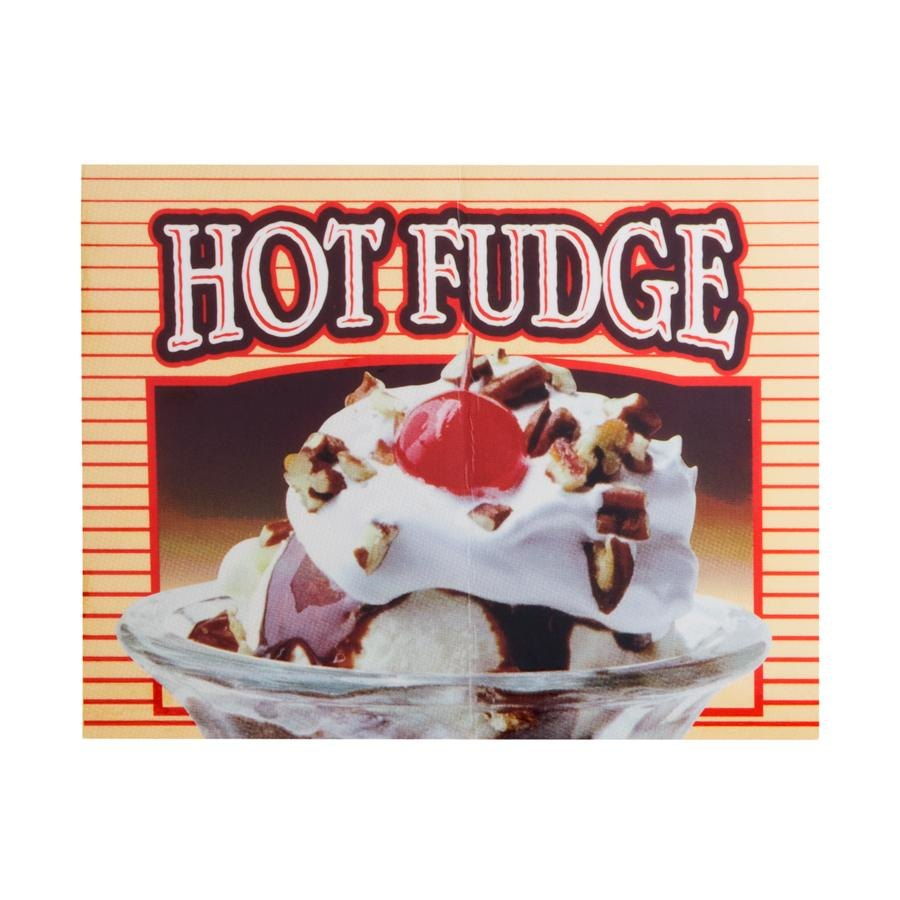 APW Wyott 21770400 Replacement Hot Fudge Transparency for LW-4PKG Heated Countertop Warmer