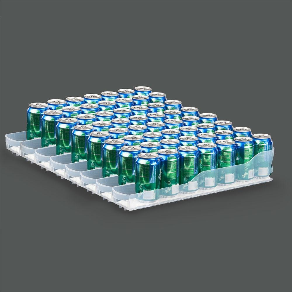 "True 929814 Trueflex Bottle Organizer - 3 1/8"" x 20 3/4"" - 35 Total Lanes; for 20 oz. Bottles"