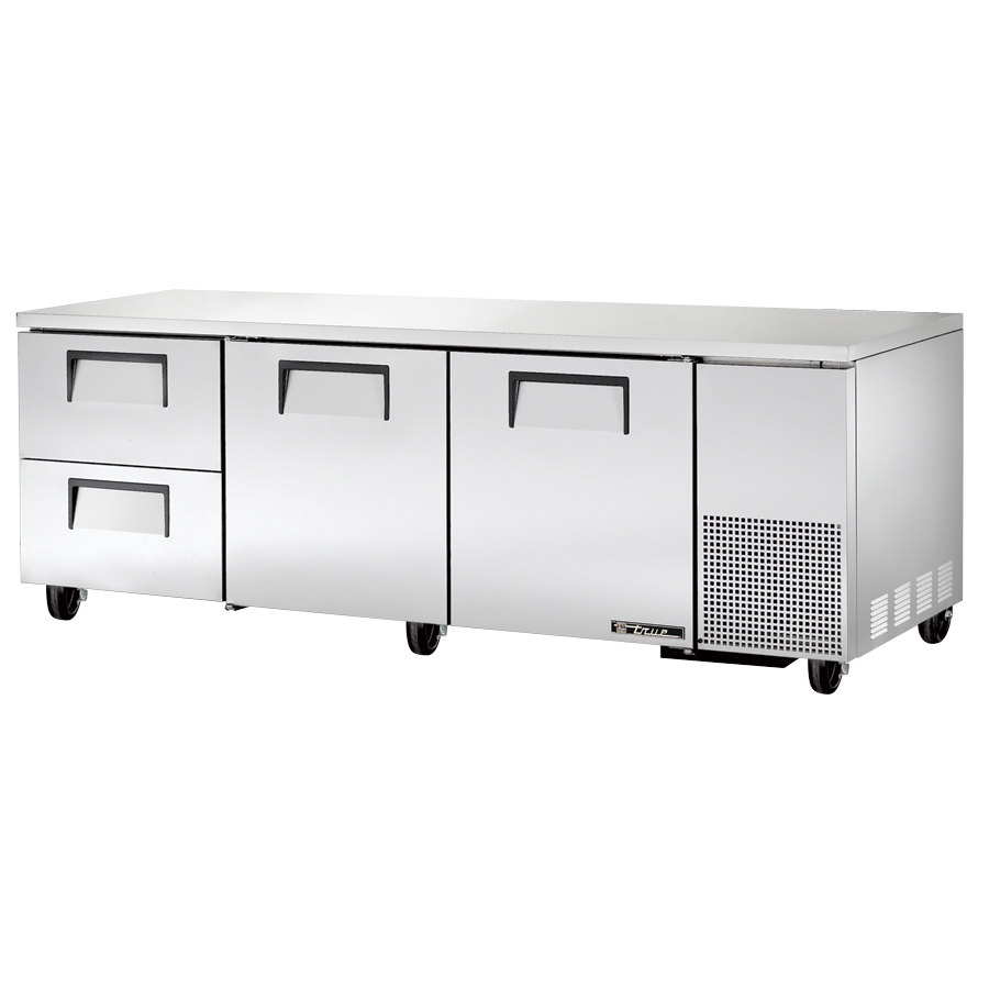 "True TUC-93D-2 93"" Deep Undercounter Refrigerator with Two Doors and Two Drawers"