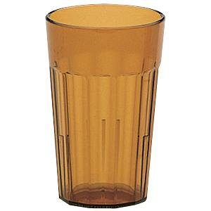 Cambro NT16153 Newport 16.4 oz. Amber Customizable Plastic Tumbler - 36/Case