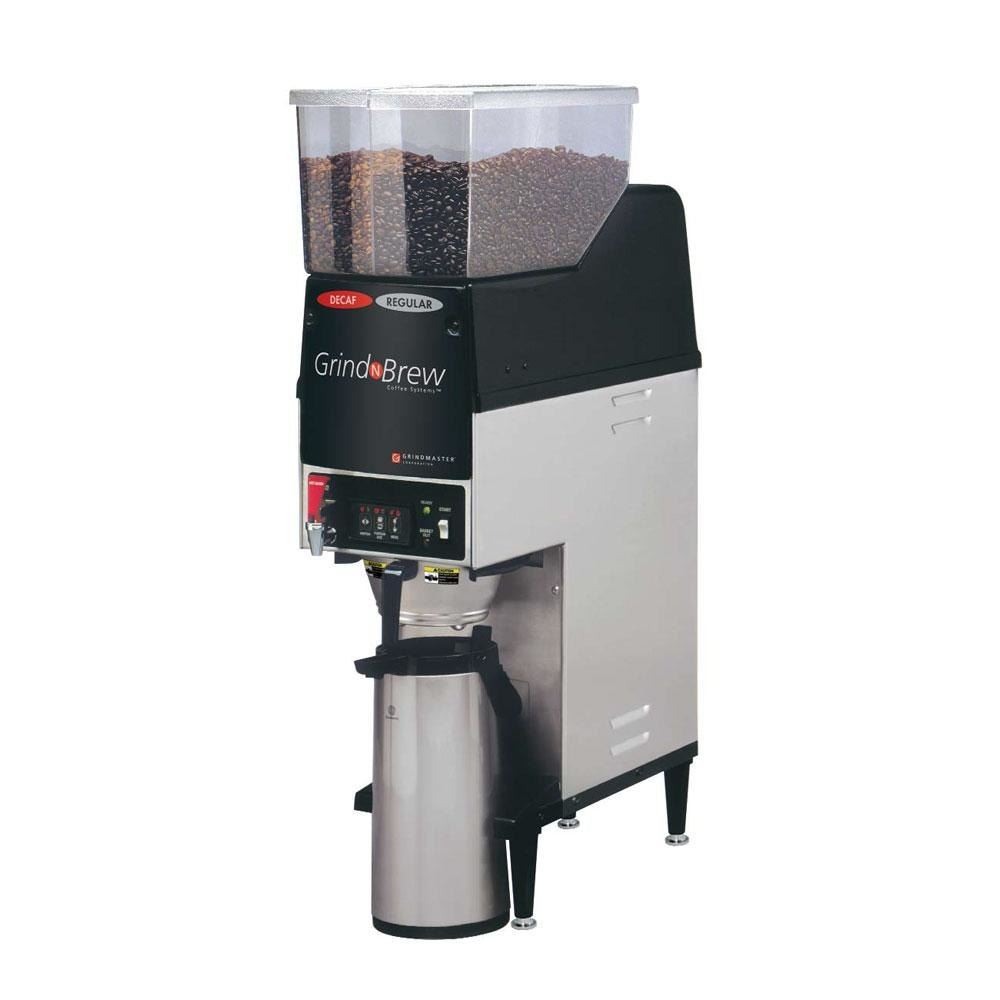 Grindmaster GNB20H 6.5 Dual Hopper 74 oz. Airpot Grind'n Brew Coffee Grinder and Automatic Brewer - 120V