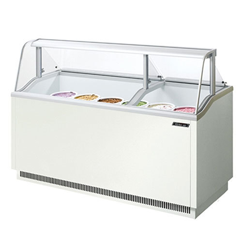 "Turbo Air Refrigeration Turbo Air TIDC-70W White 70"" Ice Cream Freezer Dipping Cabinet with Low Curved Glass - 16.07 Cu. Ft. at Sears.com"