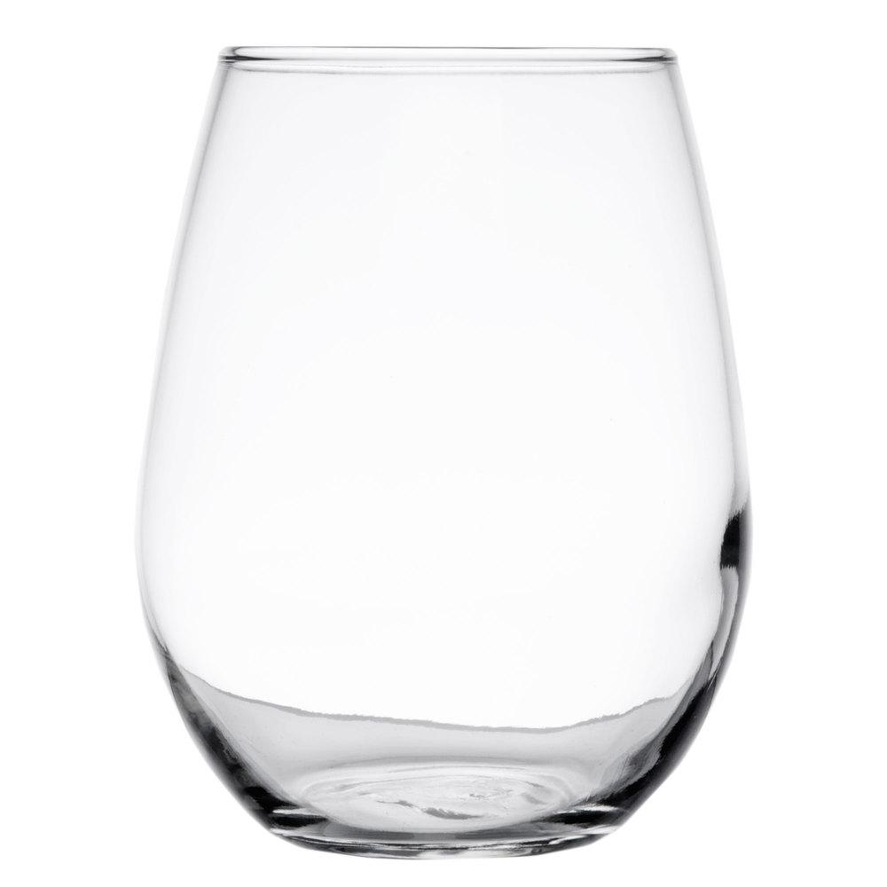 Libbey 217 12 oz stemless white wine glass 12 case - Beaker wine glasses ...