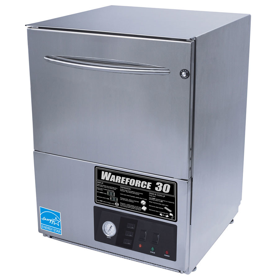 Wareforce UL30 Low Temperature Undercounter Dishwasher - Chemical Sanitizing