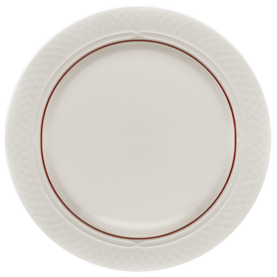 Homer Laughlin Red Jade Gothic 8 1/8 inch Creamy White / Off White China Plate