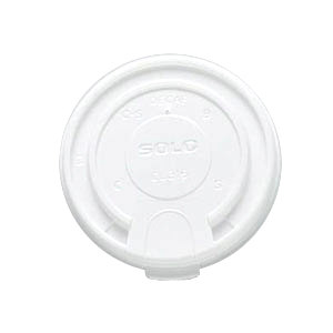 Solo LB3161 12 oz., 16 oz., and 20 oz. White Plastic Tab Lid - 1000 / Case