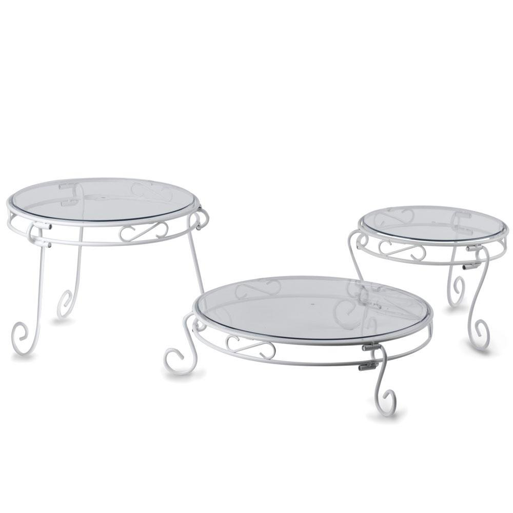 Plastic Two Tier Cake Stand