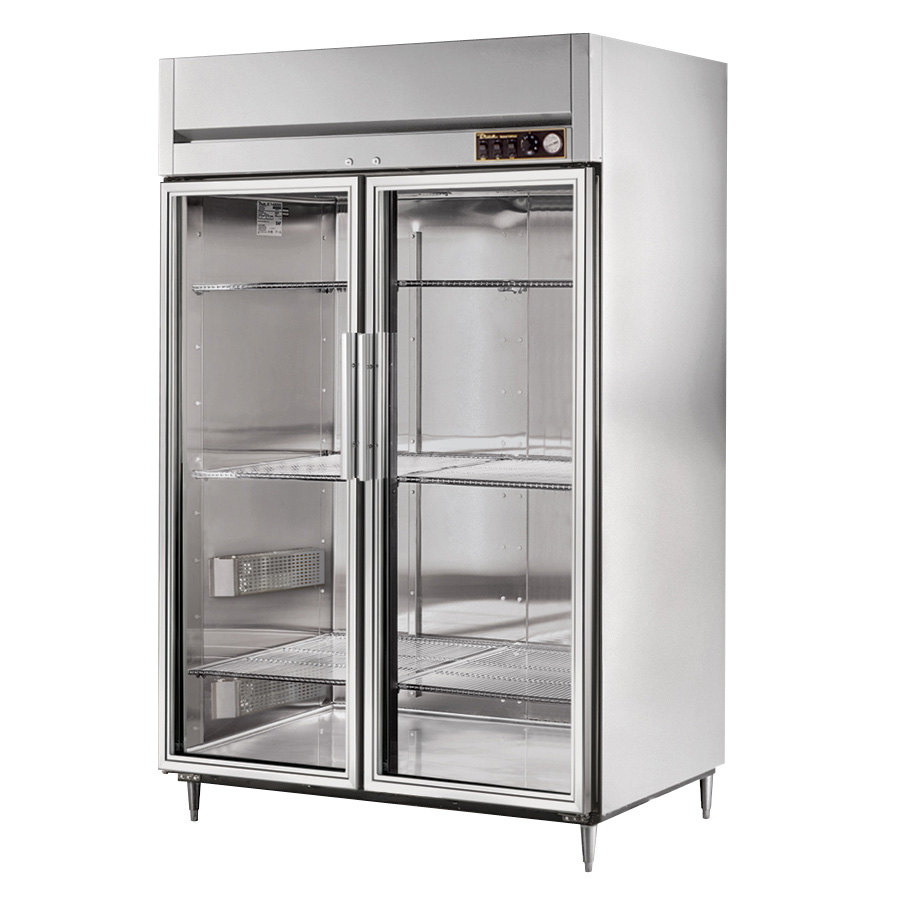 True STR2H-2G Specification Series Glass Door Two Section Reach In Heated Holding Cabinet - 56 Cu. Ft.