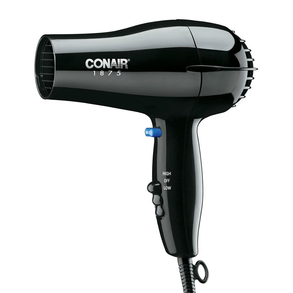 Conair 247BW Compact Size Black Hair Dryer - 1875W at Sears.com