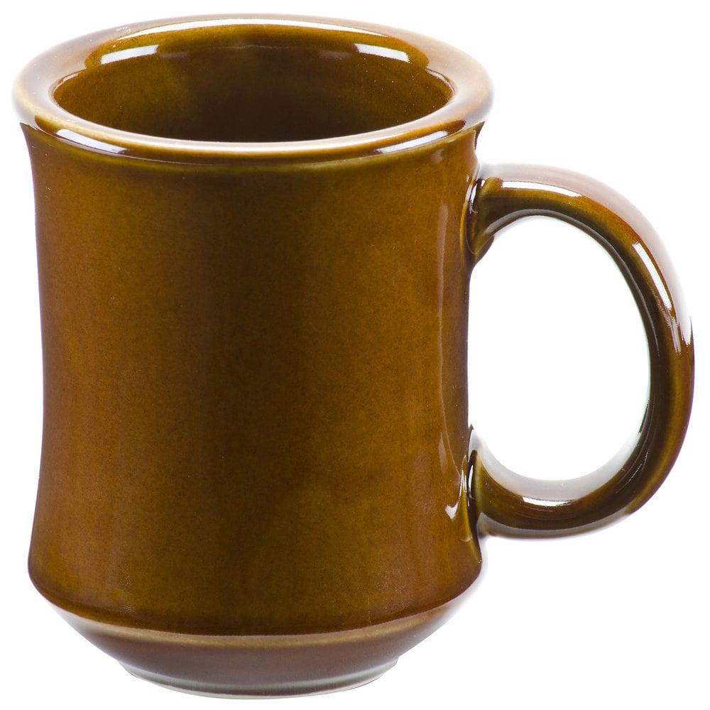 7 oz brown princess bell shaped china coffee mug 36 case. Black Bedroom Furniture Sets. Home Design Ideas