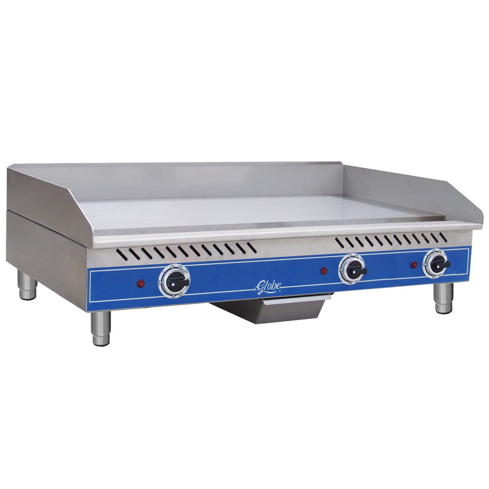 "Globe GEG36 36"" Electric Countertop Griddle - 8400W"