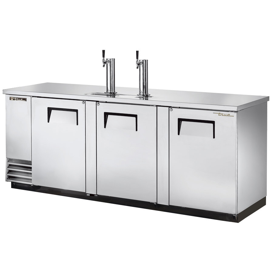 "True Refrigeration True TDD-4-S Stainless Steel Direct Draw Beer Dispenser 90"" - 4 Keg Kegerator with 2 Taps at Sears.com"