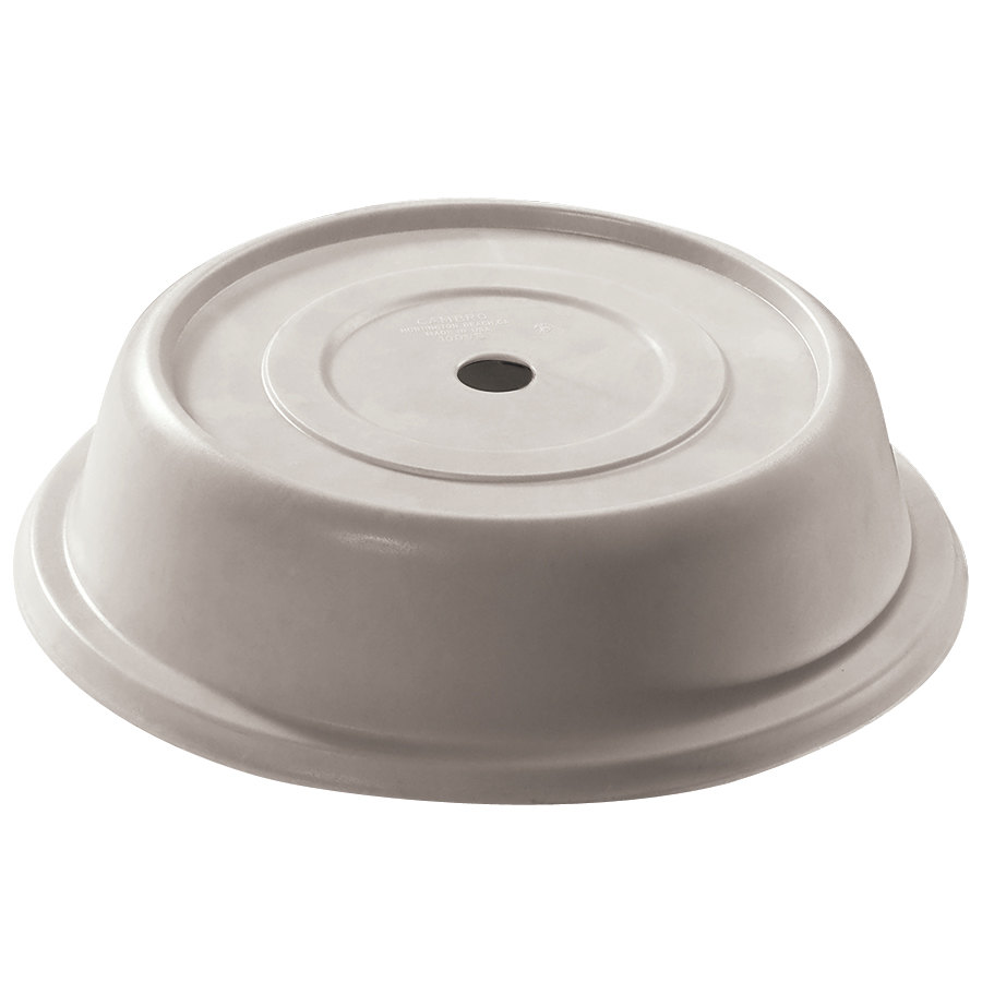 "Cambro 106VS380 Versa 10 13/32"" Ivory Camcover Round Plate Cover - 12/Case"