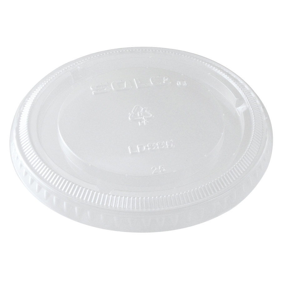 Dart Solo SCCLDSS5 5.5 oz. Wide Sauce / Portion Cup Snaptight Lid 1000/Case - 1000/Case