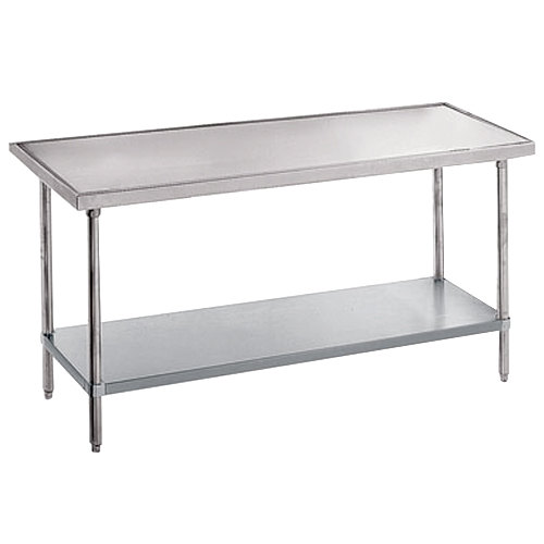 "Advance Tabco VLG-302 30"" x 24"" 14 Gauge Stainless Steel Work Table with Galvanized Undershelf"