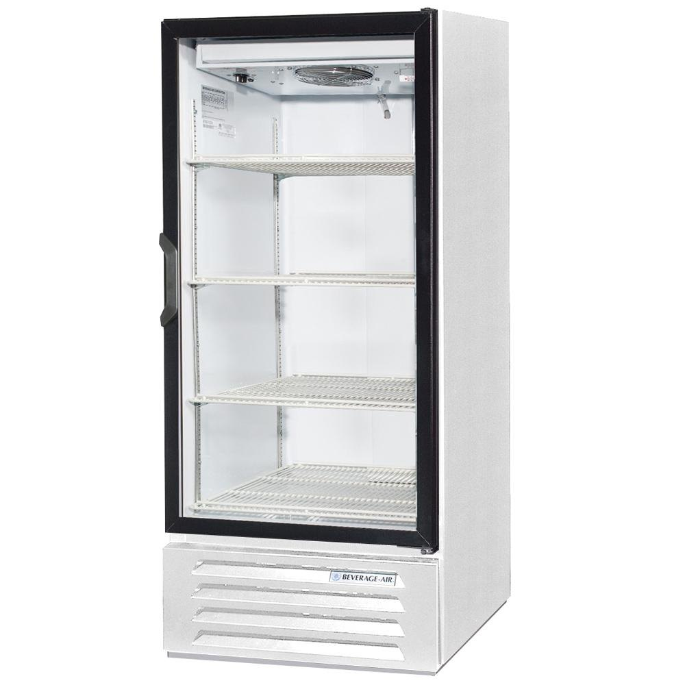 "Beverage Air LV10-1-W-LED White LumaVue 24"" Refrigerated Glass Door Merchandiser with LED Lighting - 10 Cu. Ft."