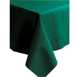 "Hoffmaster 220833 50"" x 108"" Linen-Like Hunter Green Table Cover - 20/Case"