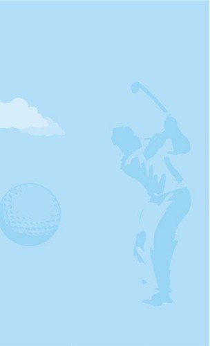 8 1/2 inch x 11 inch Menu Paper - Country Club Themed Golf Silhouette Design - 100/Pack