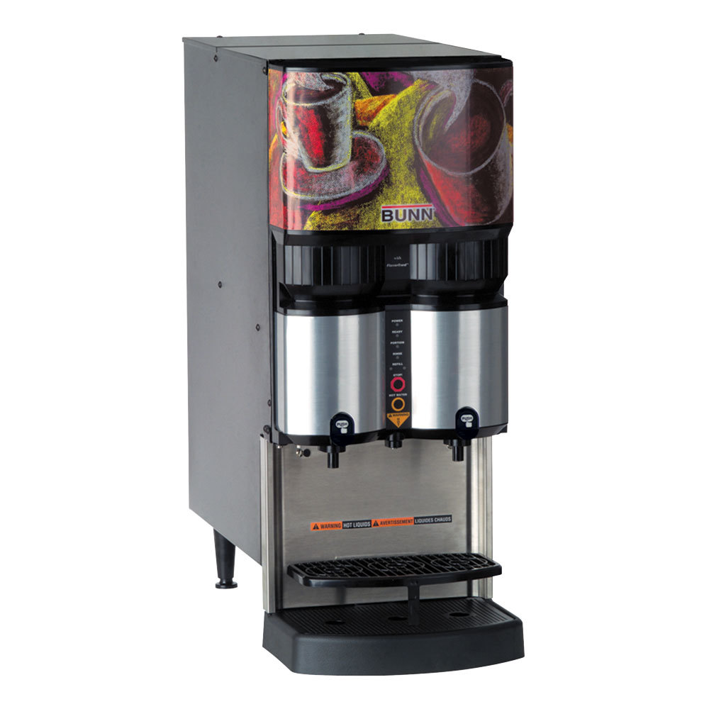 Bunn LCA-2 PC Ambient Liquid Coffee Dispenser with Portion Control and Scholle QC Connector - 120V (Bunn 36500.0026)