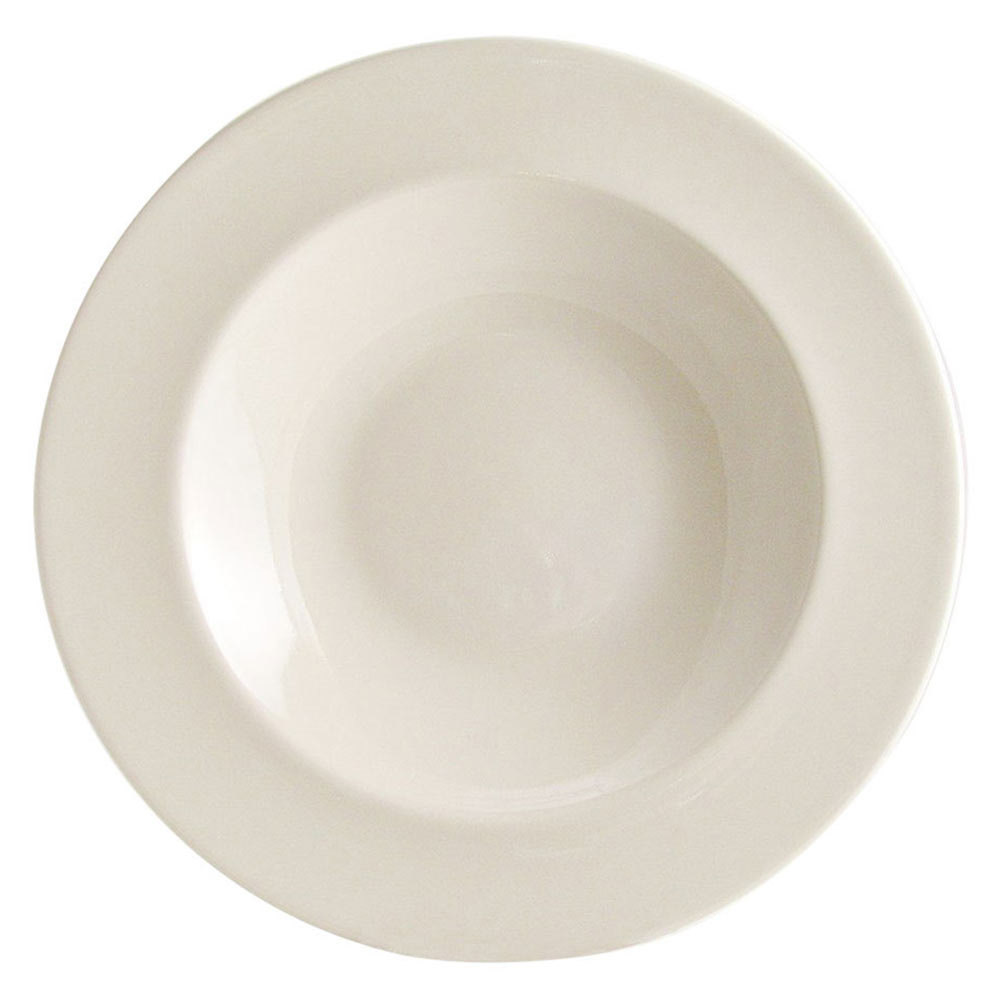 Homer Laughlin 44100 Unique Venetian 16 oz. Ivory (American White) China Pasta Bowl - 12/Case