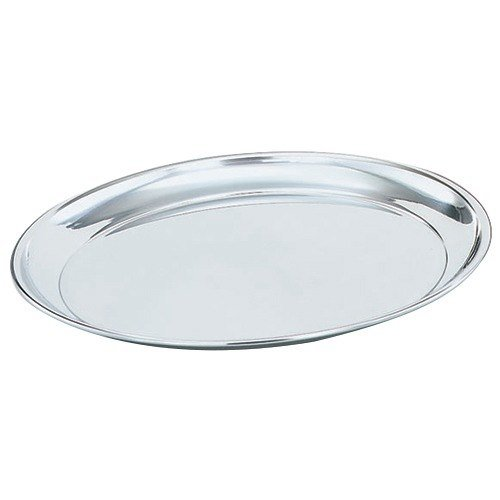 "Vollrath 47214 Mirror-Finished Stainless Steel Round Tray - 14"" Diameter"