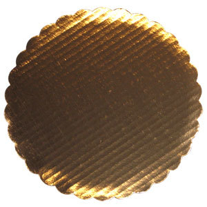 9 inch Cake Circle Gold Laminated Corrugated 25 / Pack
