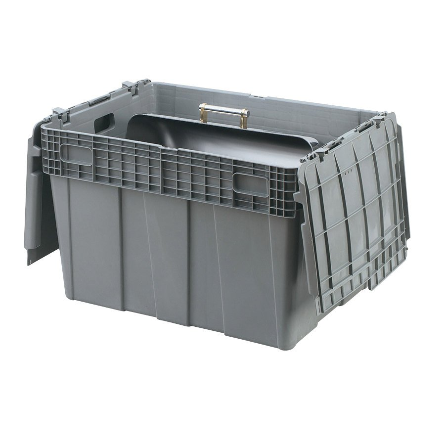 "Vollrath 52647 Tote 'N Store 26 5/8"" x 18 5/8"" x 18 3/4"" Gray Chafer Box"