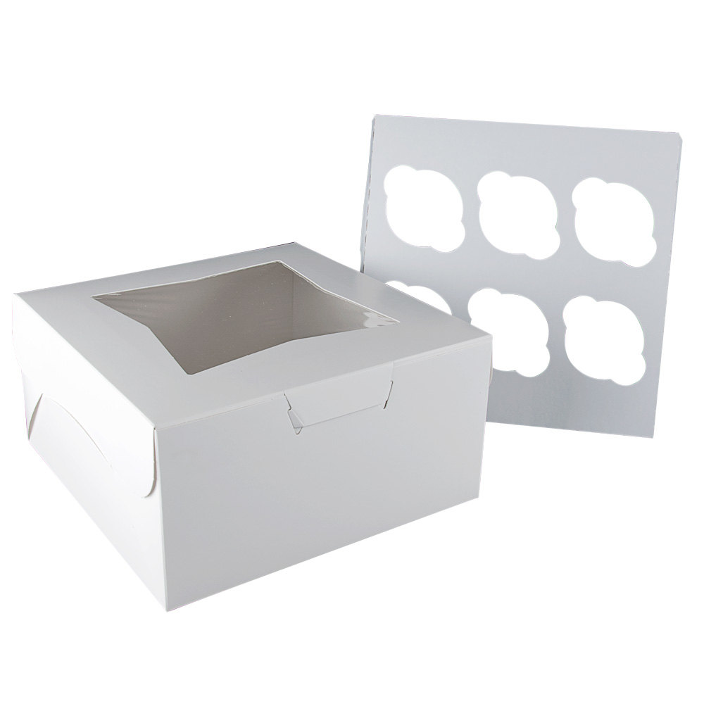 "Window Cupcake Box with Insert 10"" x 10"" x 5"" - 10 / Pack"