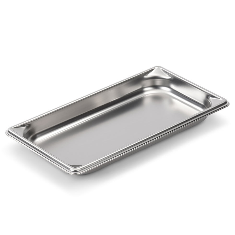 Vollrath Super Pan V 30312 1/3 Size Stainless Steel Anti-Jam Steam Table / Hotel Pan - 1 1/4 inch Deep