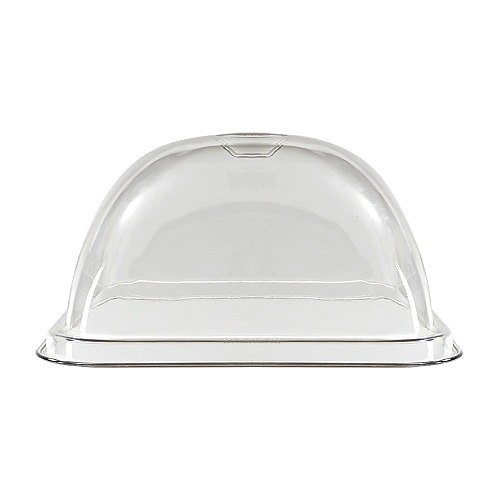 GET HI-2012-CL Clear Mediterranean Square Dome Cover for HI-2009 - 6/Case