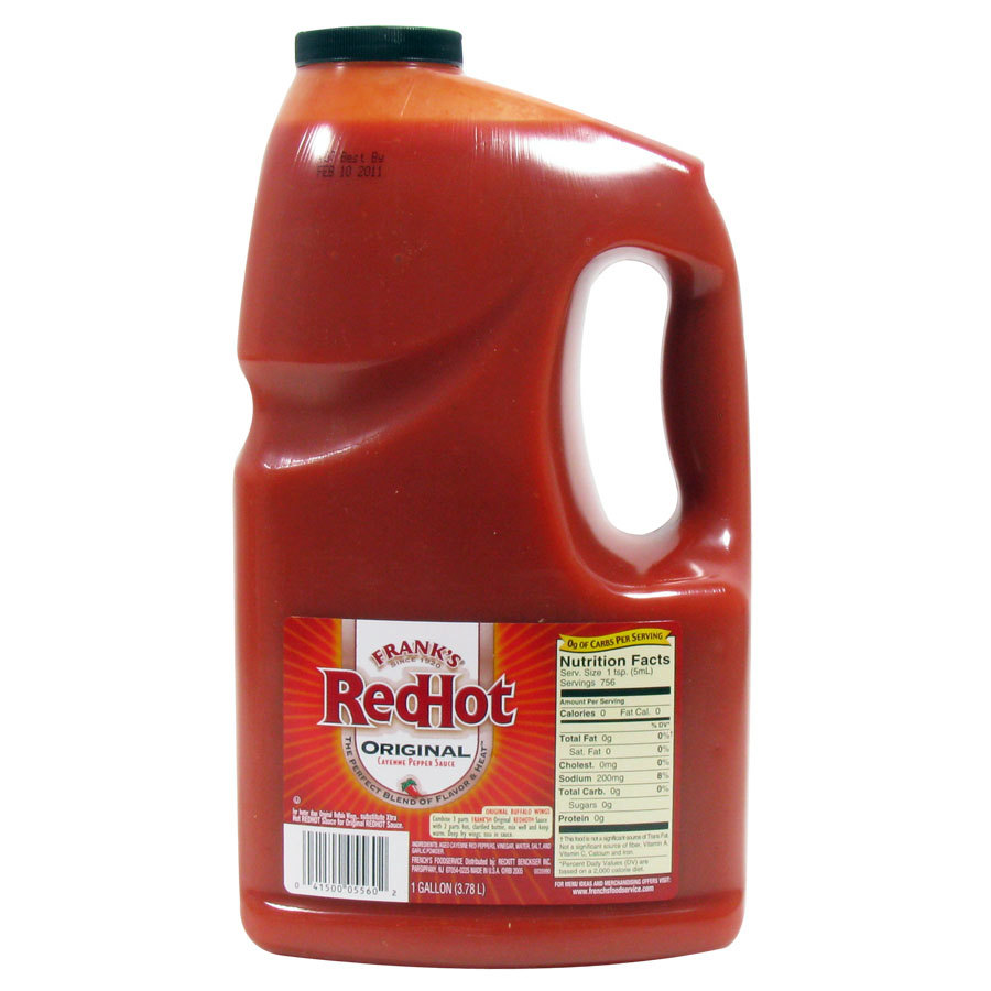 1 Gallon Frank S Original Red Hot Hot Sauce 4 Case 4 Case