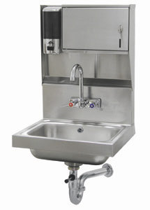 "Advance Tabco 7-PS-80 Hand Sink With Towel And Soap Dispenser - 17 1/4"" x 15 1/4"" at Sears.com"