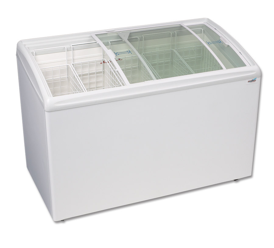 Excellence RIO-S-125 Curved Lid Display Freezer - 11.4 Cu. Ft.