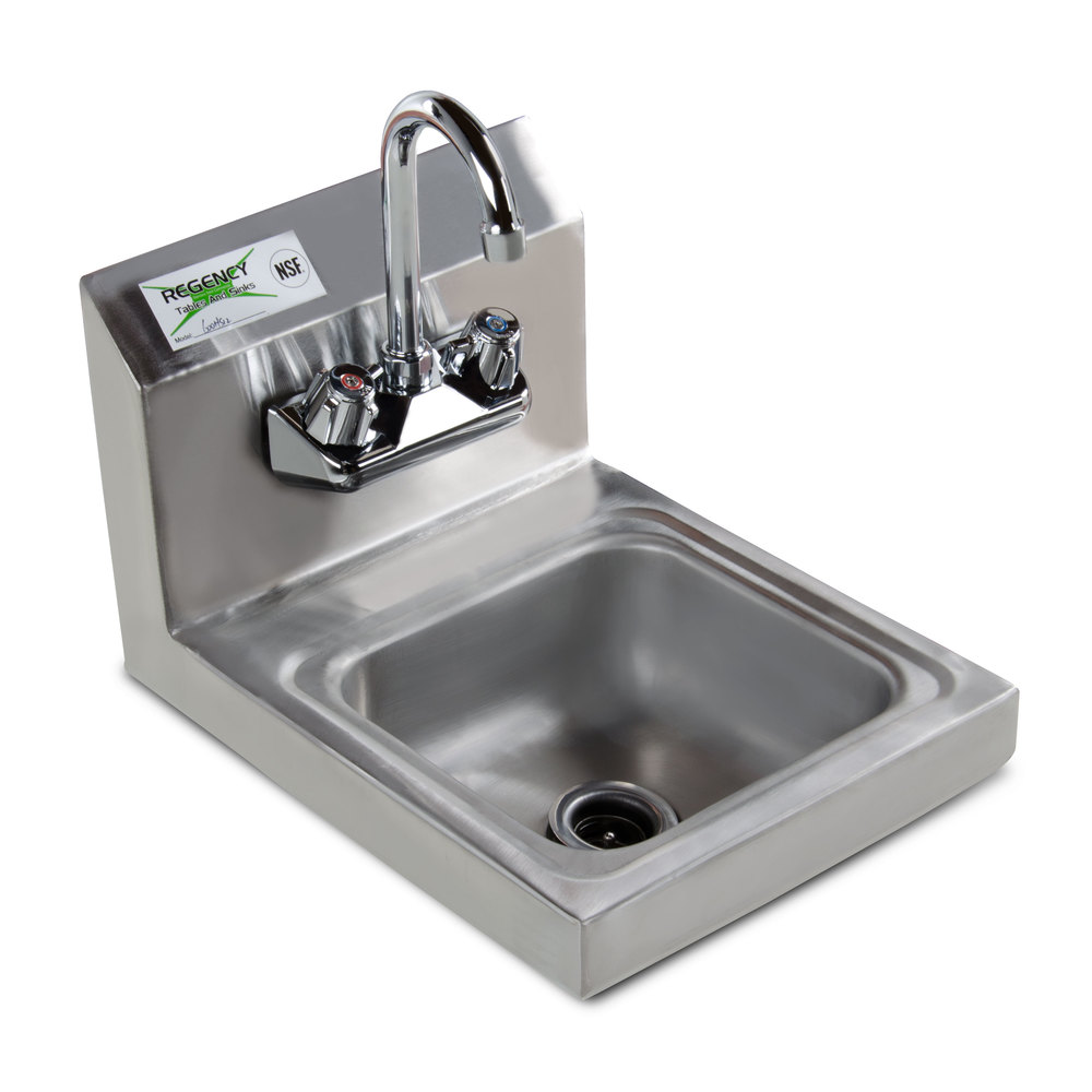 Sink With Faucet : Regency Wall Mounted Hand Sink with Faucet - 12