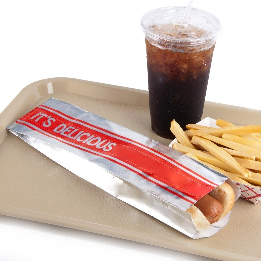 Foot Long Hot Dog Bag Printed Foil 1000/Case