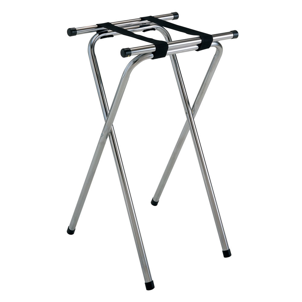 "GET TSC-102 32"" Folding Chrome Tray Stand"