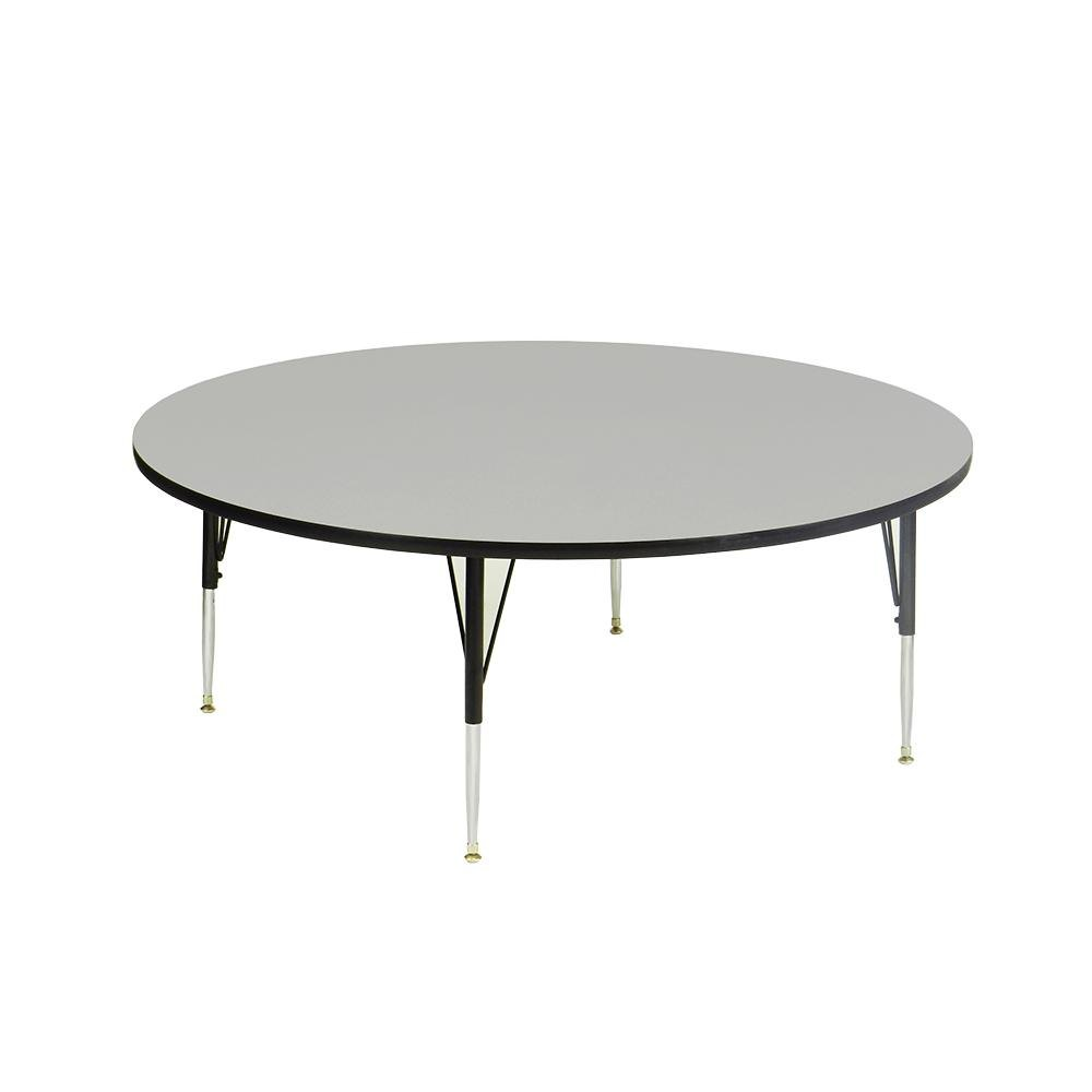 "Correll EconoLine AM60-RND 60"" Round Gray Adjustable Height Activity Table"