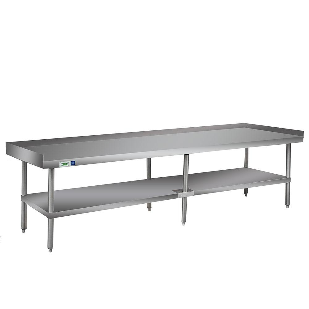 Regency 16 Gauge 30 inch x 96 inch All Stainless Steel Heavy Duty Equipment Stand with Undershelf