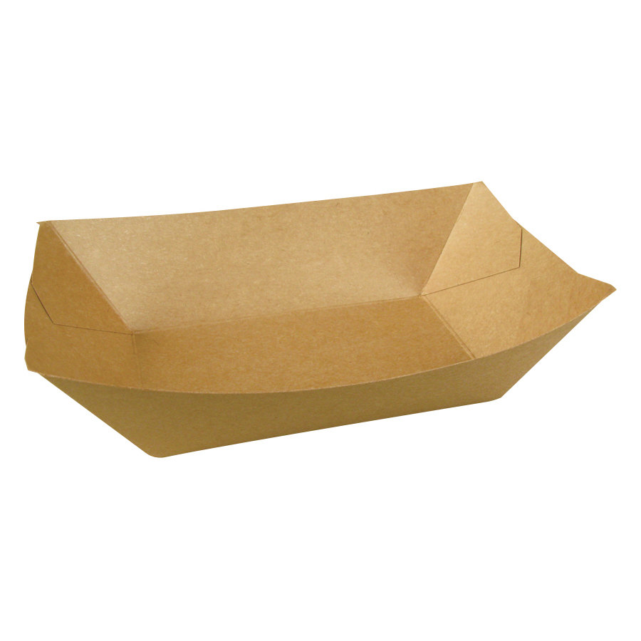 Papercon EcoCraft 300699 3 lb. Natural Kraft Food Tray 500/Case