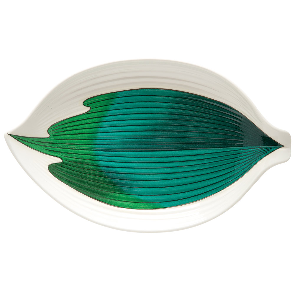 "GET 033-26-CO 10 1/2"" Contemporary Melamine Leaf Plate - 12 / Pack"