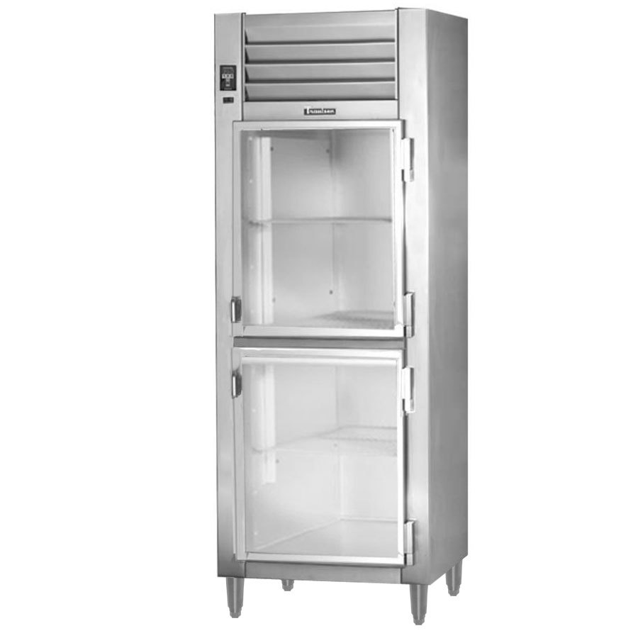 Traulsen RHT132NPUT-HHG Stainless Steel 20.4 Cu. Ft. One Section Glass Half Door Pass-Through Refrigerator - Specification Line
